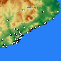 Nearby Forecast Locations - Mataró - Carta