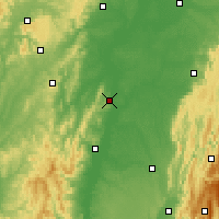 Nearby Forecast Locations - Tournus - Carta