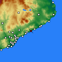 Nearby Forecast Locations - Canet de Mar - Carta