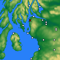 Nearby Forecast Locations - Inverkip - Carta