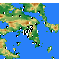 Nearby Forecast Locations - Chalandri - Carta