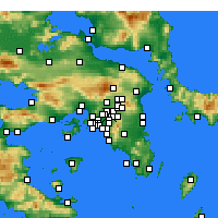 Nearby Forecast Locations - Nea Ionia - Carta