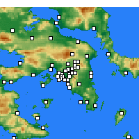 Nearby Forecast Locations - Galatsi - Carta