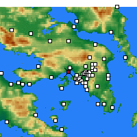 Nearby Forecast Locations - Eleusi - Carta