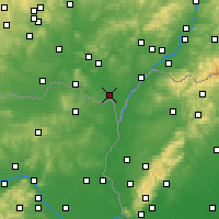 Nearby Forecast Locations - Břeclav - Carta