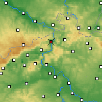 Nearby Forecast Locations - Děčín - Carta