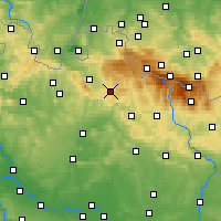Nearby Forecast Locations - Jablonec nad Nisou - Carta
