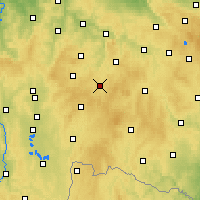Nearby Forecast Locations - Pelhřimov - Carta