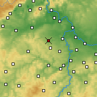 Nearby Forecast Locations - Slaný - Carta