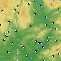 Nearby Forecast Locations - Vyškov - Carta