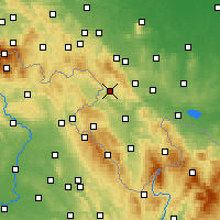 Nearby Forecast Locations - Nowa Ruda - Carta