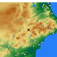 Nearby Forecast Locations - Villena - Carta