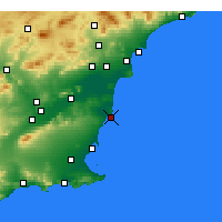 Nearby Forecast Locations - Torrevieja - Carta