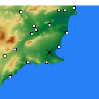 Nearby Forecast Locations - Torre-Pacheco - Carta