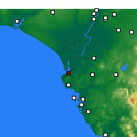 Nearby Forecast Locations - Sanlúcar de Barrameda - Carta