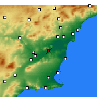 Nearby Forecast Locations - Orihuela - Carta