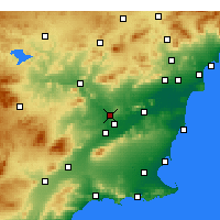 Nearby Forecast Locations - Molina de Segura - Carta