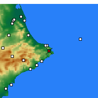 Nearby Forecast Locations - Jávea - Carta
