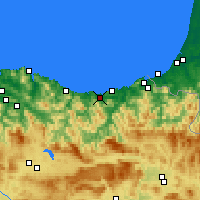 Nearby Forecast Locations - Zarautz - Carta
