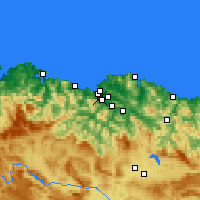 Nearby Forecast Locations - Sestao - Carta