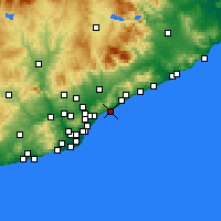 Nearby Forecast Locations - Premià de Mar - Carta
