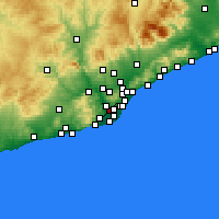 Nearby Forecast Locations - Cornellà de Llobregat - Carta