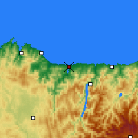 Nearby Forecast Locations - Ribadeo - Carta