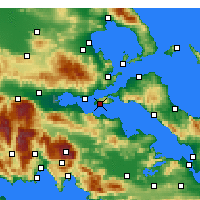 Nearby Forecast Locations - Aghios Georgios - Carta