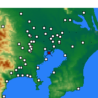 Nearby Forecast Locations - Kōtō - Carta