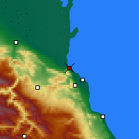 Nearby Forecast Locations - Machačkala - Carta