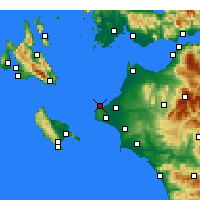 Nearby Forecast Locations - Kastro-Kyllini - Carta