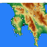 Nearby Forecast Locations - Messene - Carta