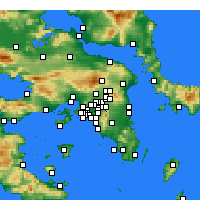 Nearby Forecast Locations - Psichiko - Carta