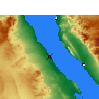 Nearby Forecast Locations - Ras Gharib - Carta