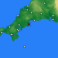 Nearby Forecast Locations - Mevagissey - Carta