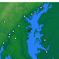 Nearby Forecast Locations - Annapolis - Carta