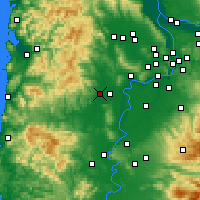 Nearby Forecast Locations - McMinnville - Carta