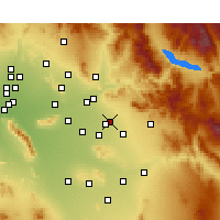 Nearby Forecast Locations - Mesa - Carta