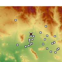 Nearby Forecast Locations - Sun City West - Carta