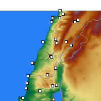 Nearby Forecast Locations - Nabatiye - Carta